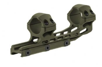 "Leapers UTG 1pc 1"" HIGH 50mm Offset Picatinny Scope Mount ODG Cerakote AIR12250G"